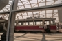 An old tram is displayed at the official opening of Basarab suspended passage, July 18th, 2011, Bucharest